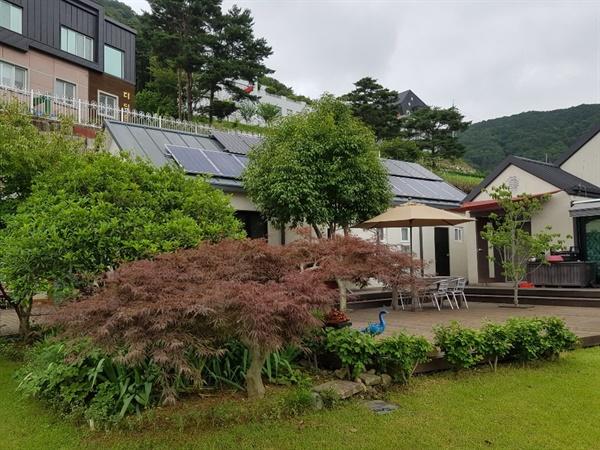 창원시 의창구 동읍에 설치되어 있는 태양광이용 주택