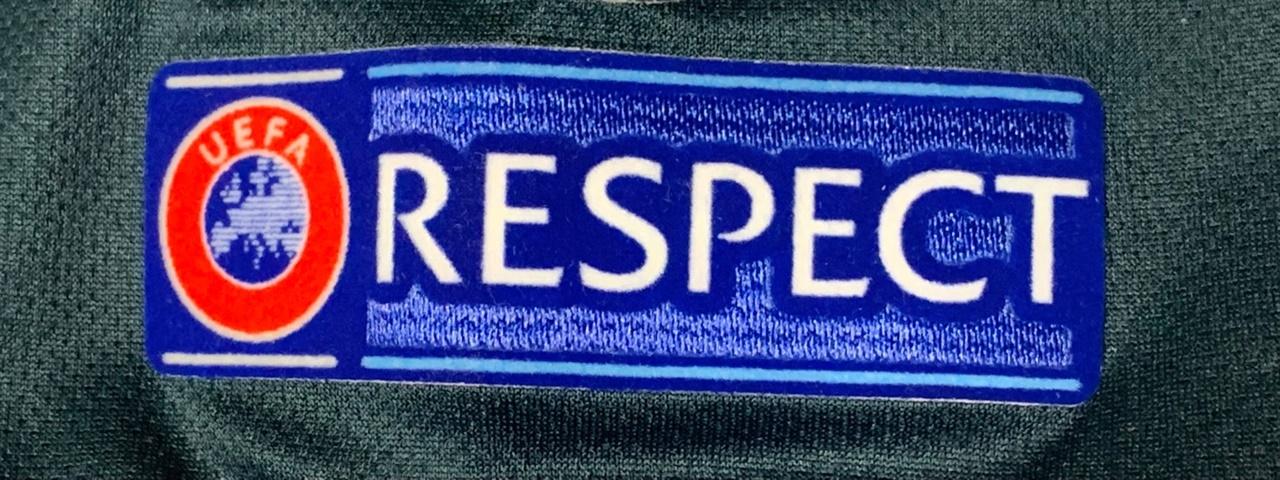 UEFA RESPECT 패치 UEFA 주관대회에서 모든 유니폼에 부착하는 RESPECT 패치