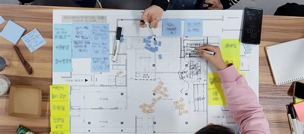위스테이별내 참여형 설계 프로그램 진행 장면