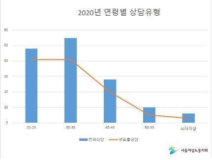 서울여성노동자회 평등의전화·고용평등상담실 2020년 1월~12월 상담