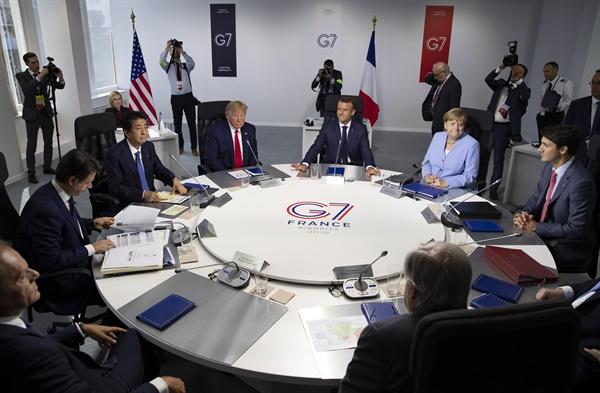 2019년 8월 26일 프랑스 비아리츠에서 열린 G7 정상회의