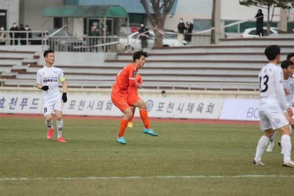 김영준은 K4 리그에서 많은 경기를 소화하고 있다