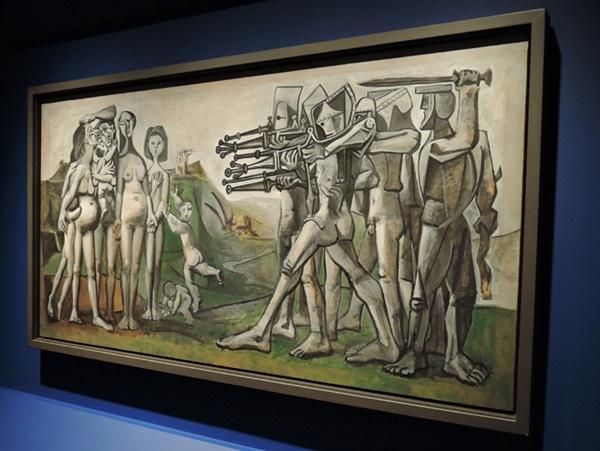 피카소 I '한국에서의 학살' 유화 110×210cm 1951.01.18. '발로리스'에서 제작. 그해 5월 '살롱전' 출품 ⓒ 2021 Succession Pablo Picasso SACK(Korea)