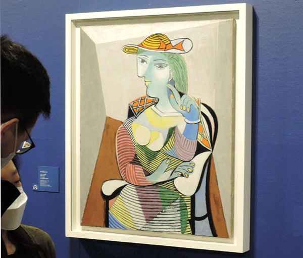 피카소 I '마리-테레즈의 초상(Portrait of Marie-Therese Walter)' 1937년 유화 100×81cm 1937. 당시 그녀는 20대 후반. ⓒ 2021 Succession Pablo Picasso SACK(Korea)