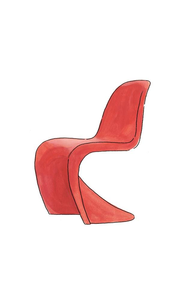 덴마크 디자인의 전형적 공식을 깨뜨린, 베르너 판톤의 작품 '판톤 체어'