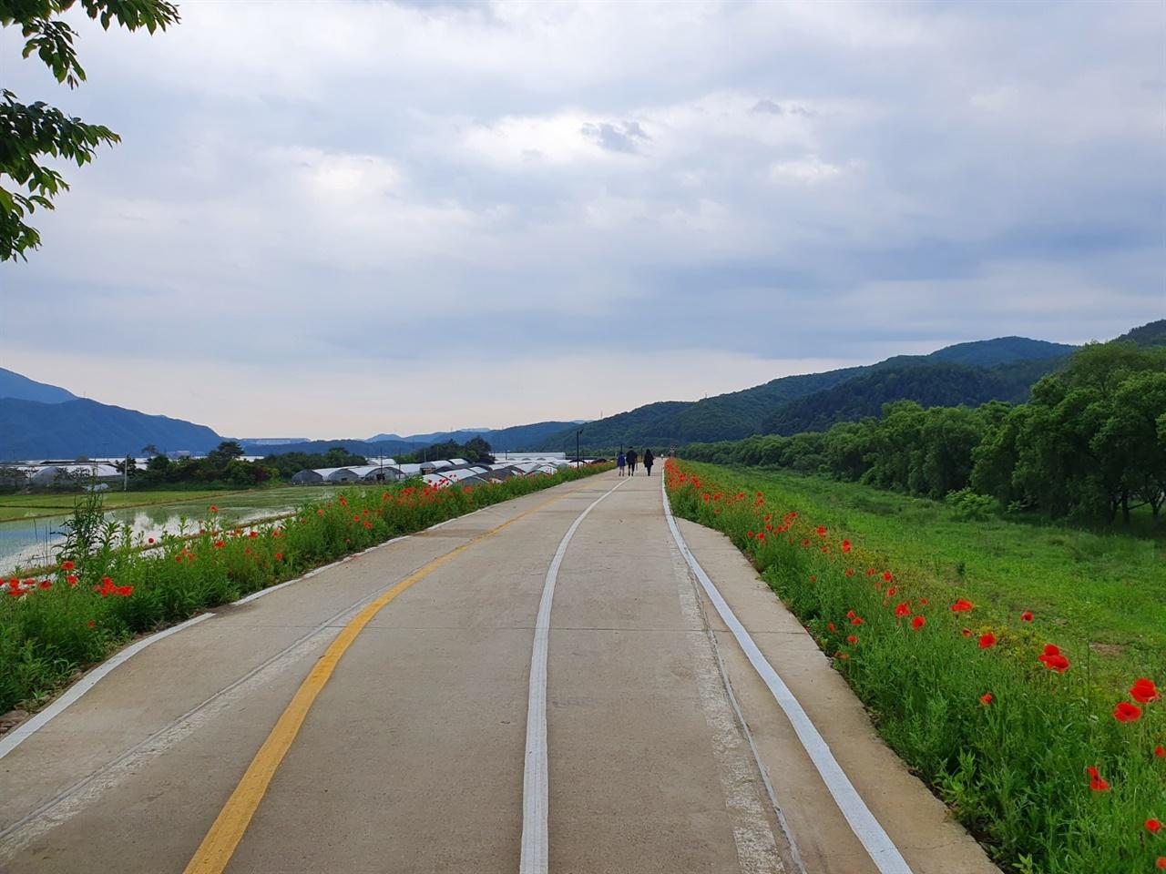 경안천 생태공원의 둑방길 경안천은 광주의 남북으로 흐르며 상수도 보호구역으로 지정되면서 생태계가 잘 보존된 곳으로 유명하다.