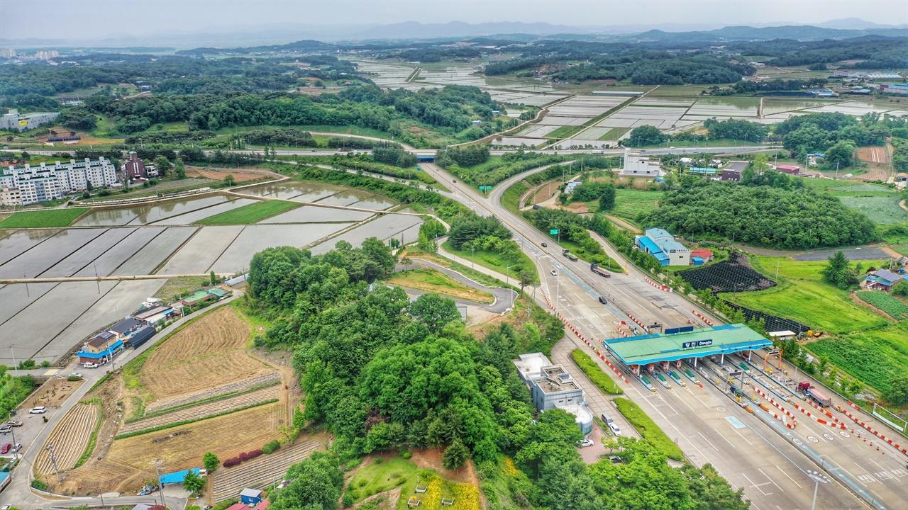 드론으로 촬영한 송악읍 반촌1리