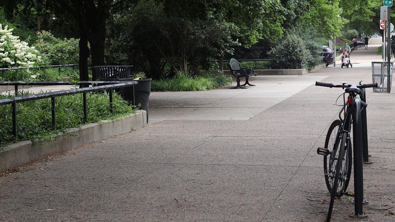 소녀상공원이 들어서게 되는 현재의 가로공원 모습 필라델피아시 당국의 최종승인이 나면 현재의 가로공원은 소녀상공원으로 탈바꿈 된다. 한적한 모습의 가로공원은 퀸빌리지 주민들이 자주 찾는 곳이다.