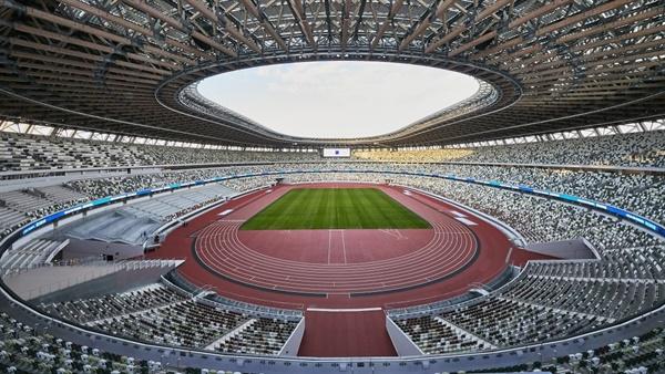 도쿄올림픽 메인 스타디움인 일본 국립경기장 전경