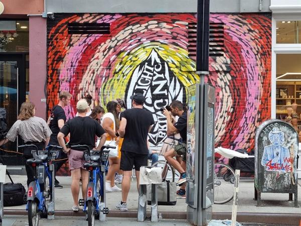 벽화가 있는 맨해튼 거리