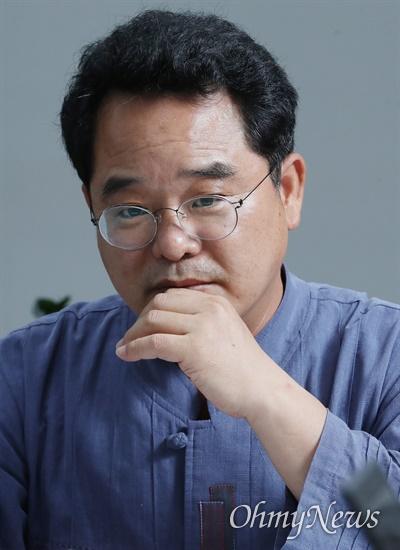 민병덕 더불어민주당 의원이 지난 7월 19일 국회 의원회관에서 <오마이뉴스>와 인터뷰하고 있다.