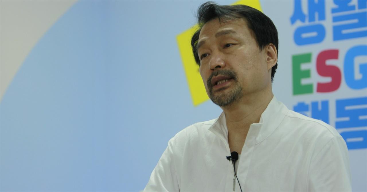 16일 서울 여의도 생활ESG행동 사무실에서 안치용 생활ESG영화제 집행위원장과 인터뷰가 이뤄졌다.