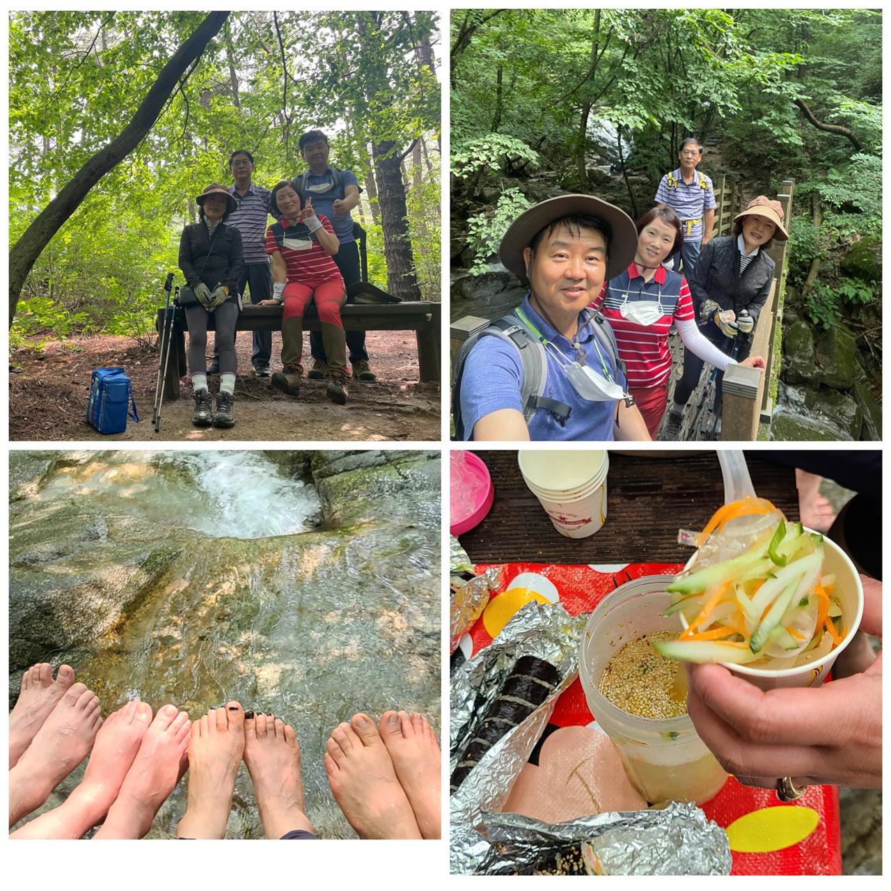 전주 모악산 계곡. 전주 모악산 계곡으로 김밥 싸서 옆집 채원이네 부부와 함께 소풍을 갔다.
