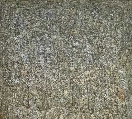 박수근(1914~1965) I '농악' 161.5cm×96.7cm 1960년대 부분화. '농악' 7점 있는데 그중 가장 대작이다