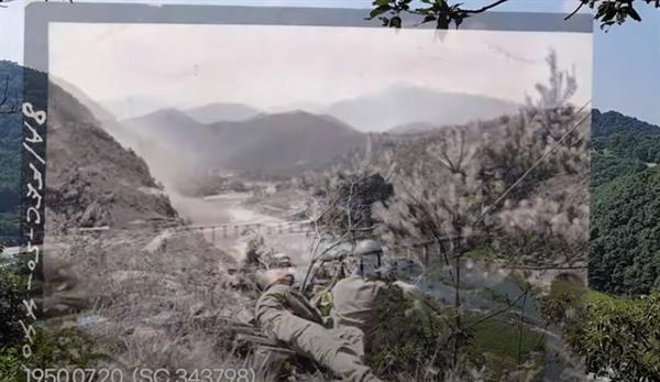 산세와 바위, 하천의 모습은 71년 전 사진 속 모습 그대로였다