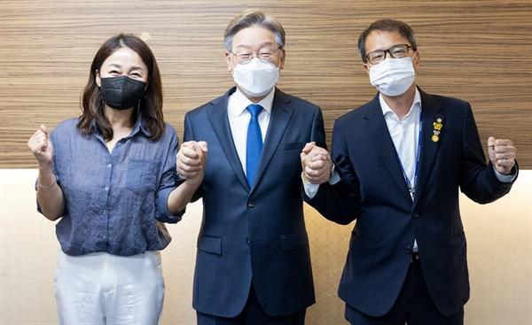 박주민, 이재정 의원이 29일 이재명 후보를 공개 지지 선언했다.