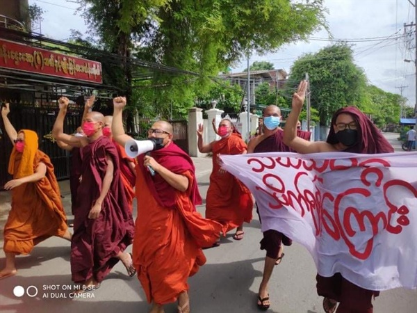 민달레이승려회의 170번째 시위