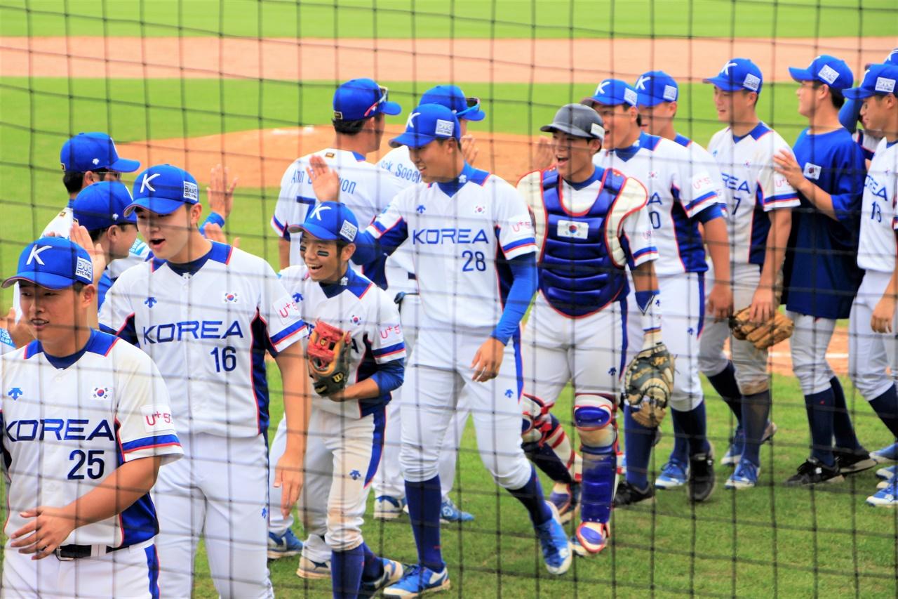 지난 2019년 WBSC U-18 야구 월드컵에 출전했던 대한민국 대표팀의 모습.