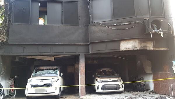 오유나씨 가족은 화재로 집안의 모든 물건을 사용할 수 없게 되었다.