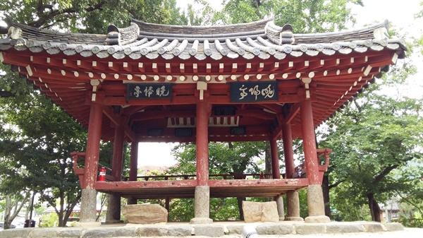 광주광역시 문화재 자료 제5호 만귀정, 세 개의 정자중 맏형 격이다
