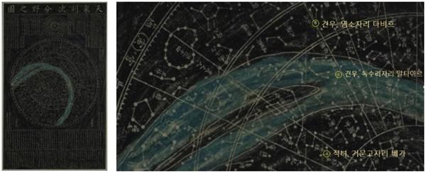 조선후기에 제작된 천상열차분야지도 목판 인쇄본