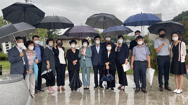 14일 더불어민주당 강릉시지역위원회가 '일본군위안부 피해자 기림의 날 행사'를 진행했다.