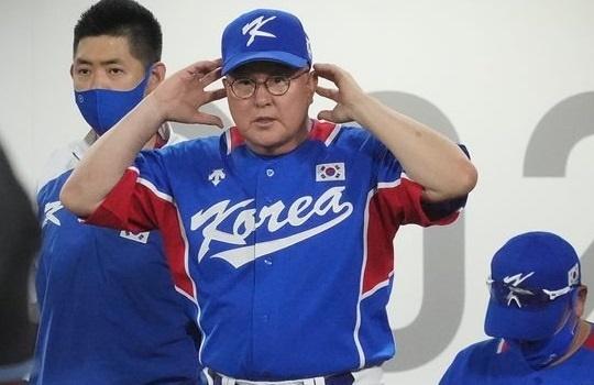 도쿄 올림픽에서 4위로 노메달에 그친 야구 대표팀 김경문 감독