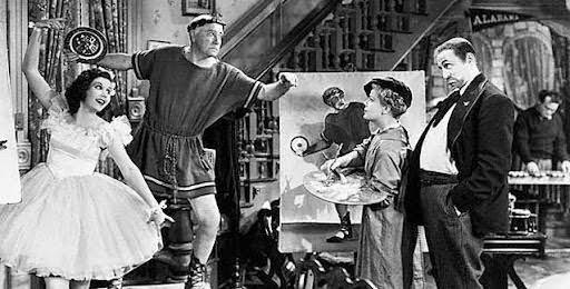 주인공 반더호프의 가족들. 영화 <우리들의 낙원> (1938)