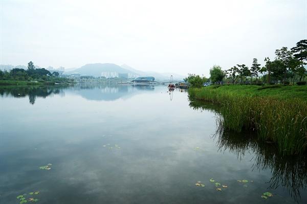 세종시 호수공원의 아름다운 풍경