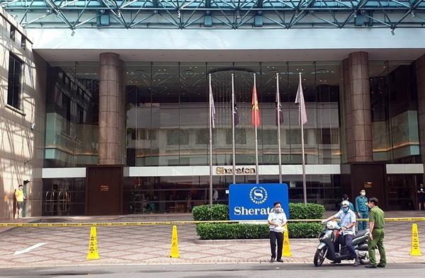 지난 5월 격리 조치된 호치민시 쉐라톤호텔(자료: THANHNIEN. Phan Thuong)