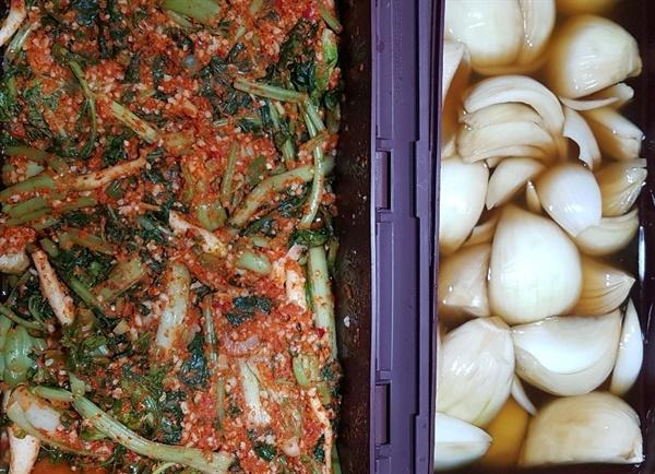 옆지기가 담근 열무김치와 양파 절임. 저장 식품으로 시간과 비용과 품을 절약하는 살림의 기술!