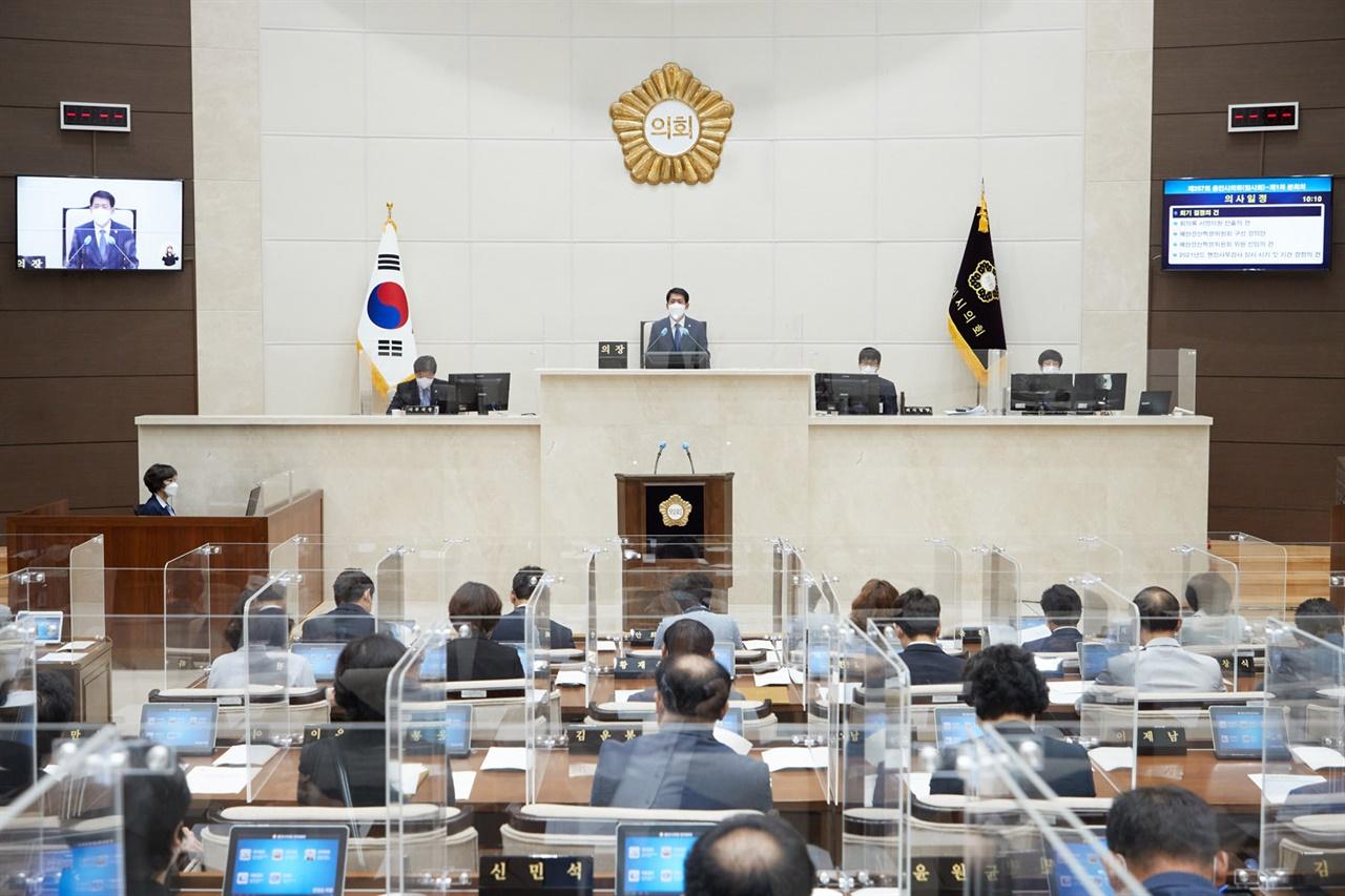 용인시의회 제257회 임시회 개회 모습