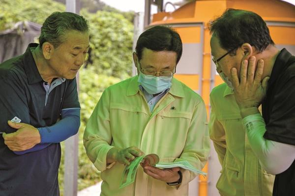 충북 괴산군도 작년부터 농촌진흥청 신기술 보급사업으로 액비플랜트를 활용하고 있다. (사진 괴산군 제공)