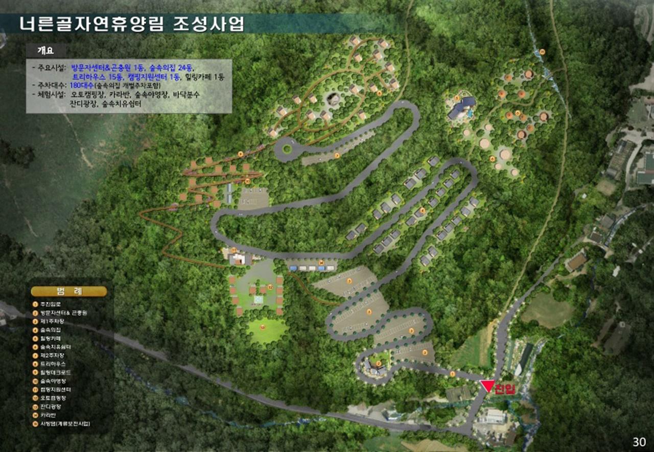 너른골자연휴양림 조성 계획