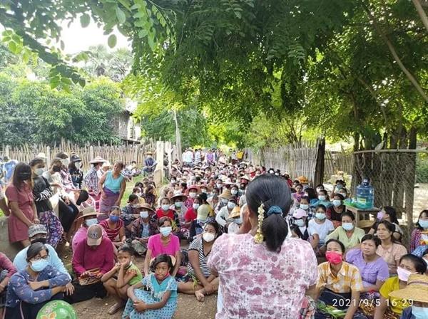 9월 5일 사가잉주 사링질시 랙바다웅에서 시위