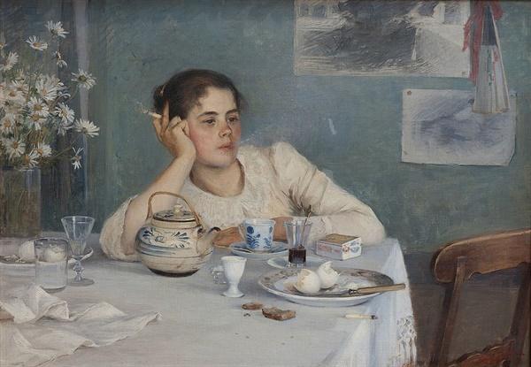 엘린 다니엘손 감보기 <아침식사 후 After Breakfast> 67x94cm, 캔버스에 유채, 1890