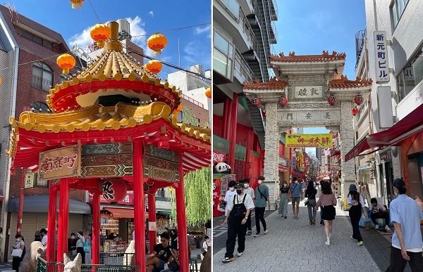 코로나 확대로 일본 고베시 모토마치 난킨마치(南京町) 길거리는 한산합니다.