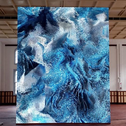 김지아나 Iceburg blue inside skyblue 21-03 Porcelain 117x91x16cm 2021