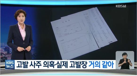국민의힘 김웅 의원이 4월 8일 당시 미래통합당에 전달한 고발장이 미래통합당에서 실제 사용됐다고 보도한 KBS(9/6)