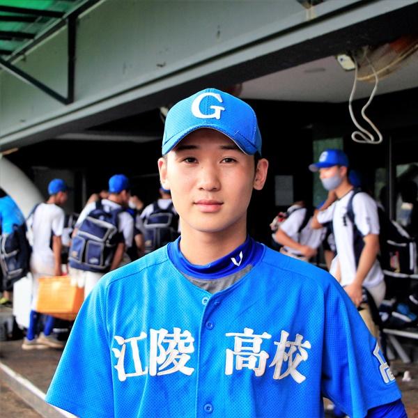 지명권 트레이드로 지명된 첫 번째 당사자가 된 강릉고등학교 김세민 선수.