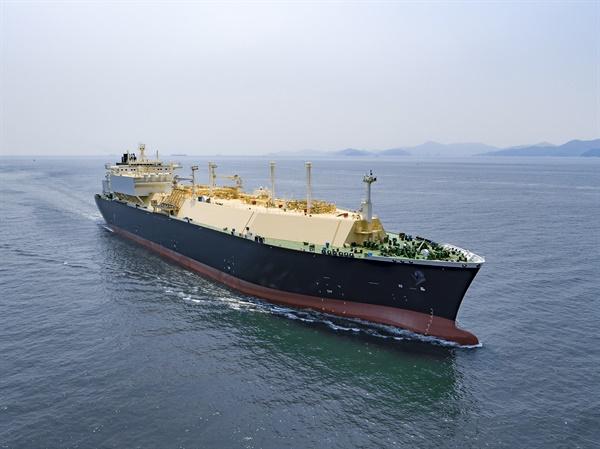 대우조선해양이 건조한 LNG운반선.