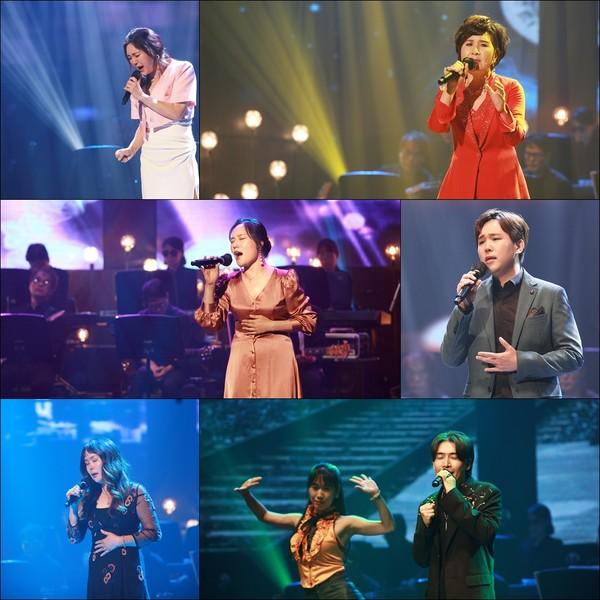 역대 삼천포아가씨가요제 수상자들이 열띤 경연을 펼쳤다.