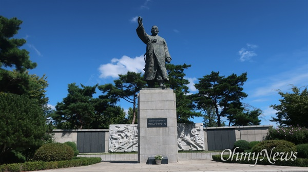 친일인명사전에 등재된 친일파 김경승이 제작해 남산에 자리한 동상들.