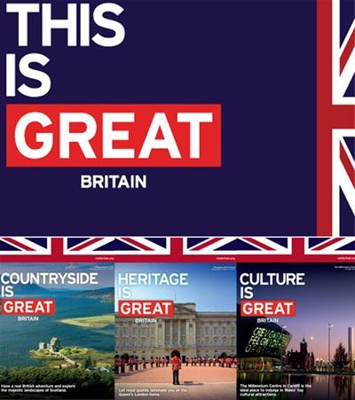 '이것이 대영제국이다(This is Great Britain). 2012년 런던올림픽을 계기로 영국 정부는 영국이 자랑하는 대표적인 가치에 대해 소개하는 'GREAT 캠페인'을 전세계적으로 진행했다.