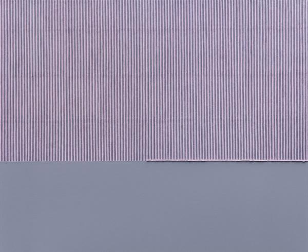 박서보 I 'Ecriture(描法) No.060910-08' 162×195cm 캔버스에 한지 2006