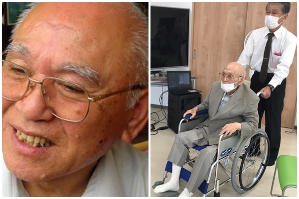 '명성황후를 생각하는 모임'을 결성해 활동해 온 카이 도시오씨의 모습. 모임을 발족한 2005년(왼쪽)과 2021년 10월(오른쪽) 모습.