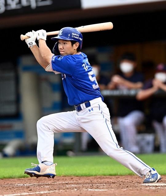 시즌 타율 0.281로 지난해에 비해 성장한 삼성 김지찬