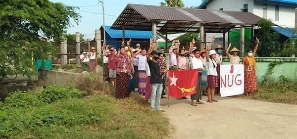 12일 사가잉주 쉐보시 반독재 시위