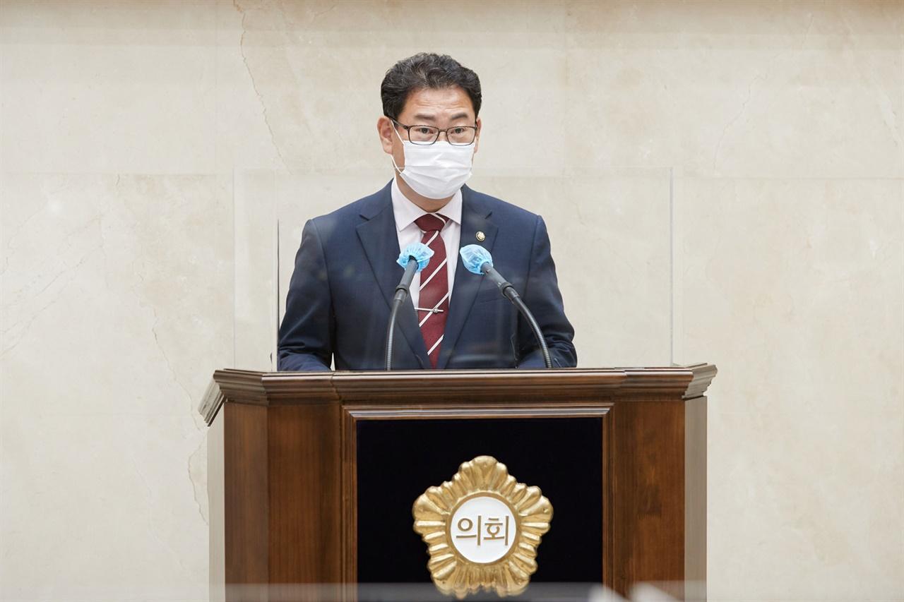 용인시의회 이진규 의원 5분 자유발언 모습