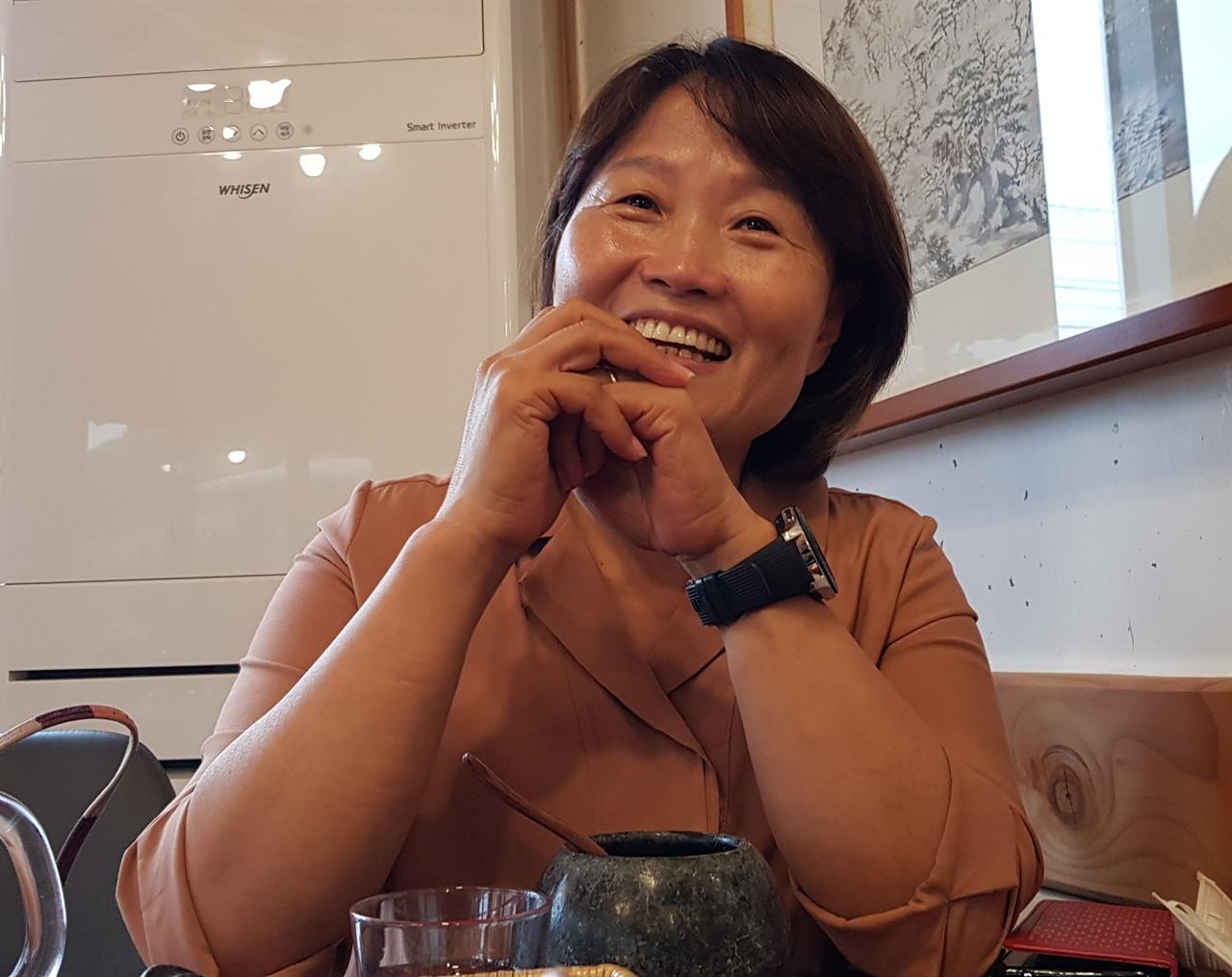 지난 11일 오전 전북 순창군의 한 찻집에서 전국여성농민회총연합 전북연합 오은미 회장을 만나 여성농업인에 대한 생각을 들었다.